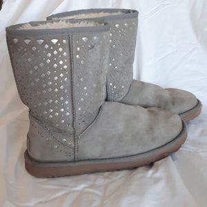 UGG Fleece lined boots with cutout embellishment